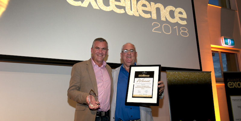 Clayton Kearney accepting Best Retailer/Dealer NSW Award